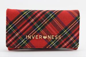 Ladies Inverness 4 colours Tartan Check Kelly Purse Clip Closure Purse /Clutch