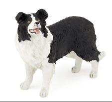 Border Collie Dog Figurine Black White Pet Papo Toy Standing Adult Canine New