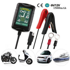 6V/12V 1.5A Lead Acid Smart Battery Charger Maintainer For Motorcycle Ebike Car