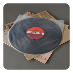 """50 ANTISTATIC ROUND BOTTOM 12"""" LP INNER RECORD SLEEVES 3 MIL (VINYL COLLECTOR)"""
