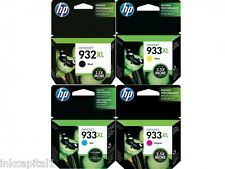 Set di 4 originale OEM Cartucce Inkjet Per HP Officejet 6600, 6600e,932XL, 933XL