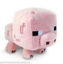 """Genuine Minecraft Animal Plush Toy 7"""" Baby PIG super cuddly Licensed Jazware"""