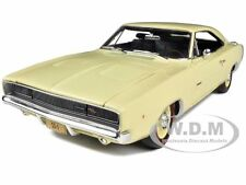 1968 DODGE CHARGER R/T SS1 LIGHT YELLOW 1/18 LTD.TO 1500PC BY AUTOWORLD AMM972