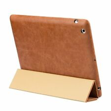 Jisoncase Vintage Genuine Leather iPad 2,3&4 Case Smart Cover JS-IPD-06A20 Brown