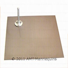 "Metal stand 14"" x 14"" for our fiberglass full body mannequins, squared stand-Sq"