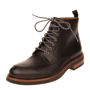 RRP €185 CLARKS Leather Ankle Boots EU 43 UK 9 US 10 Grainy Panel Lace Up