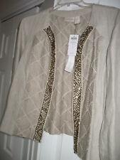 Womens Chicos Linen  Jacket SZ 1 NWTGS