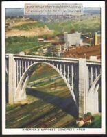 Westinghouse Memorial Concrete Arch Bridge Pittsburg c80 Y/O Trade Ad Card