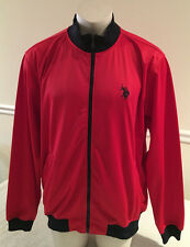 U.S. Polo Association Red Full Zipper Jacket Men's XL