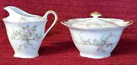 Vintage Theodore Haviland Limoges New York Rosalinde Cream and Sugar Bowl Set