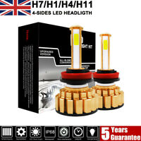 H11 H4 H7 LED Headlight Bulbs 160W 24000LM 4-Sides Conversion KIT Canbus 6000K