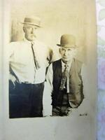 1910-1920 Picture RP Postcard Two Stately Men Best of Friends RPPC