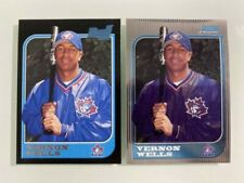 1997 Bowman Vernon Wells Rookies (#424 and Chrome #284) Lot of (2) NM/MT