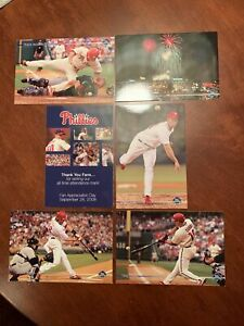 Philadelphia Phillies 2008 Fan Appreciation Day Postcards World Series Year MLB