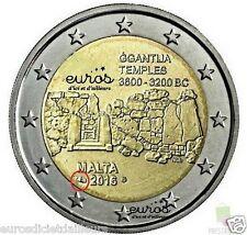 2 euros Malta 2016 - Ggantija - con el troquel Monedas de Paris - UNC