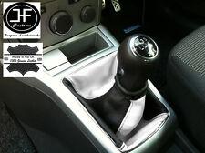 NERO bianco adattabile a OPEL Vauxhall Astra H Mk5 Mkv STICK GEAR Ghetta in pelle
