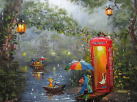 100%Hand-painted Oil Painting Animal Landscape art 16*20inch Decoration canvas