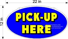 Single Sided Plexiglass Sign Pick Up Here New Blue Yellow For Order Lines