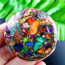 M5XY177  Beautiful Multicolor Sea Sediment Jasper Round Pendant Bead
