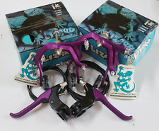 LIZARD ALLOY BMX BRAKES SET Vintage Old School Bicycle Bike Skyway 80s PURPLE