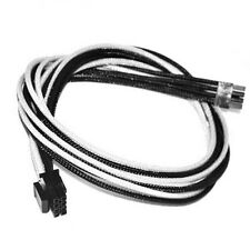 8pin CPU White Black Sleeved Power Supply Cable EVGA E-Series G3 / G2 / P2 / T2