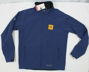 NWT MARMOT L Men's Gravity Softshell Jacket in Navy 98160 SMILEY FACE EMBROIDERE