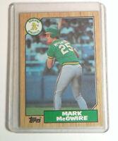 1987 Topps Baseball #366 Mark McGwire Rookie Card Oakland Athletics RC