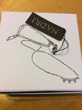 Nadri Crystal Eclipse Bar Pendant Necklace Pave Crystals Rhodium Plate