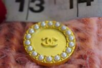 100% Chanel button 1 pieces  cc logo 25 mm 1 inch White gold  ❤❤❤