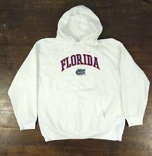 University Florida Gators White Stitched Embroidered Hoodie Sweatshirt Size XXL