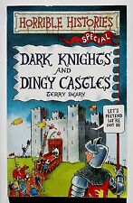 NEW HORRIBLE HISTORIES PAPERBACK BOOK DARK KNIGHTS & DINGY CASTLES - TERRY DEARY
