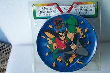 Batman and Robin 1994 Tumbler Plate & Bowl New and Factory Sealed Zak Design New