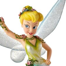 New DISNEY SHOWCASE Figurine TINKERBELL Statue GREEN GOWN FLORAL SPRING FLOWER