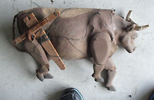 RARE 1930s BIG WPA Museum Extension Project Cow Paper Mache Puppet LOOK