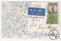 1937 May 4th. Air Mail. Picture Postcard. Sydney to Stuttgart, Germany.