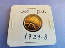 COIN= ONE NICE 1939-S LINCOLN WHEAT COPPER CENT IN UN CIRCULATED B.U. CONDITION