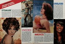 Gina Lollobrigida,Sivi Aberg ,Barbara Rhoades,Julie Christie Film Article 1970