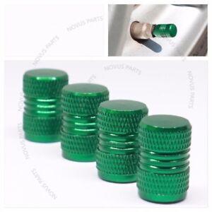 For Mercedes-Benz SL500 S500 S600 Anti-slip Valve Stem Cover Green 4pcs Rim Dust