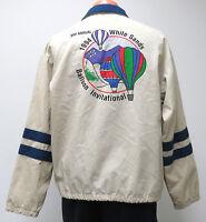 vtg 1994 HOT AIR BALLOON INVITATIONAL Windbreaker LARGE jacket White Sands 90s L
