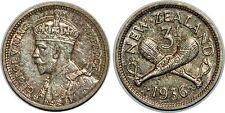 NEW ZEALND 3 PENCE 1936 KM#1 XF+++!!!