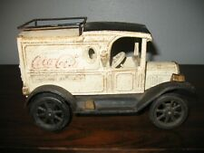 Vintage MSR MIKE R Cast Iron FORD MODEL T COCA COLA DELIVERY TRUCK
