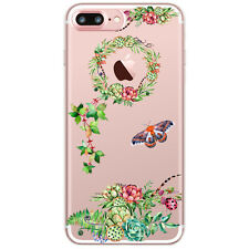 Cactus Plant Pattern Soft TPU Clear Phone Case Cover For iPhone 5 5s 6 6s 7 Plus
