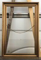 Antiker Bilderrahmen Goldstuck Vintage Profilrahmen innen 56,3 x 34,5 cm Zeitlos