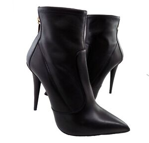 giuseppe zanotti  shoes women black leather size 9 made in italy boots ankle