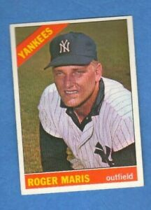 Roger Maris 1966 Topps Baseball Card #365 New York Yankees
