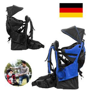 Kindertrage Babytrage Kraxe Sonnen-Regenschutz Carrier Baby Rucksack DHL H2U6