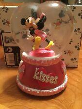 "Disney Mickey Minnie Heart Shaped Musical Snow Globe Musical ""So This Is Love"""
