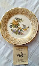 Vtg. 1971 Lenox Boehm Limited Edition Bird Collector Plate~Goldfinch w/Paper~Usa