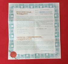 ROLEX Datejust 79173 Guarantee Warranty Certificate 2001 Papers