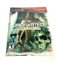 PS3 Playstation 3 Uncharted Drake's Fortune Greatest Hits Sealed New Blu-Ray